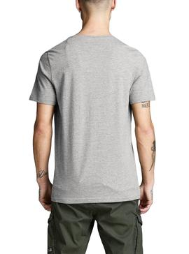 Camiseta Jack and Jones Art Sign Gris Hombre