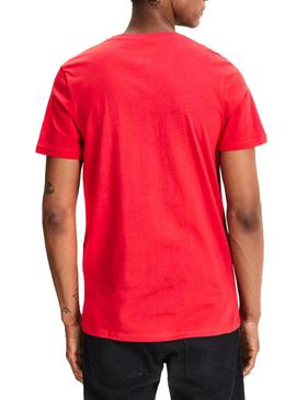 Camiseta Jack and Jones Jorlips Rojo