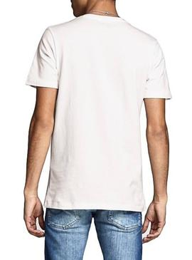 Camiseta Jack and Jones Antwon Blanco Hombre