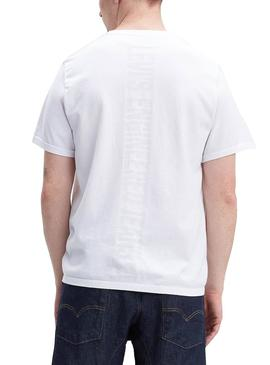 Camiseta Levis Engineered Blanco Hombre