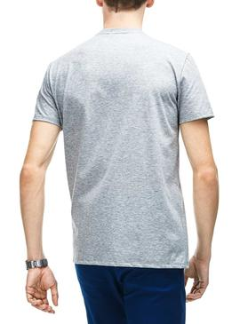 Camiseta Lacoste TH6709 Plateado