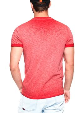 Camiseta Superdry Low Roller Coral Hombre