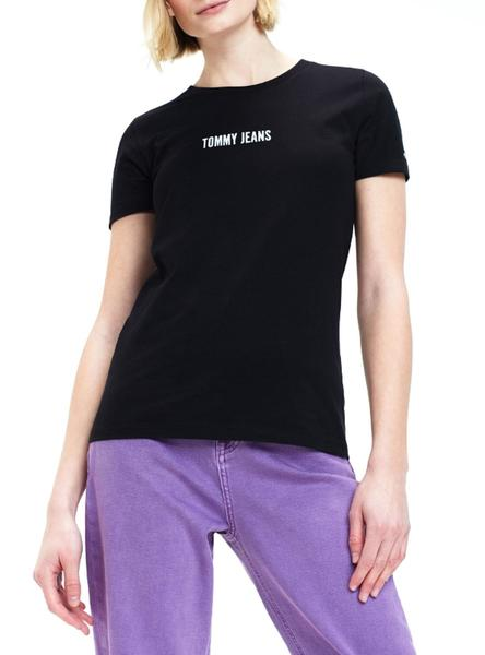 Camiseta Tommy Jeans Stay Wild Negro Mujer