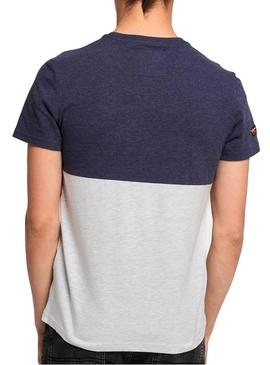 Camiseta Superdry Tri Panel Multicolor Hombre