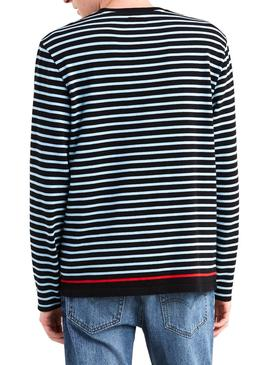 Camiseta Levis Mission Stripes Negro Hombre