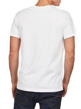 Camiseta G-Star Graphic 45 Blanco Hombre