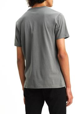 Camiseta Levis Sunset Pocket Gris Hombre