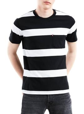 Camiseta Levis Sunset Pocket Stripes Hombre