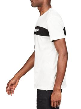 Camiseta G-Star Graphic 80 Blanco Hombre