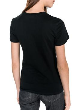 Camiseta Clavin Klein Institutional Negro Mujer