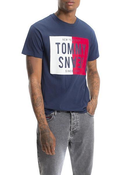 Camiseta Tommy Jeans Split Box Azul