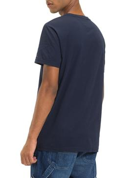 Camiseta Tommy Jeans Essential Logo Marino Hombre