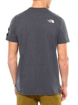 Camiseta The North Face Fine 2 Tee Gris Hombre