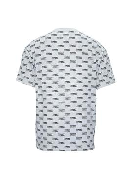 Camiseta Tommy Jeans Multi Logo Blanco Hombre