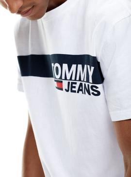 Camiseta Tommy Jeans Essential Box Logo Blanco