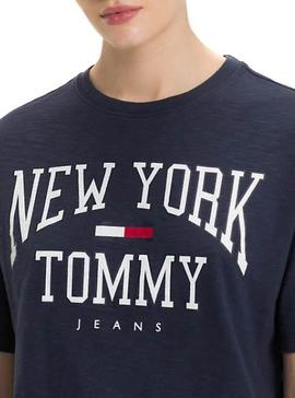 Camiseta Tommy Jeans Boxy New York Azul