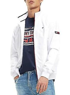 Bomber Tommy Jeans Essential Casual Blanco Hombre