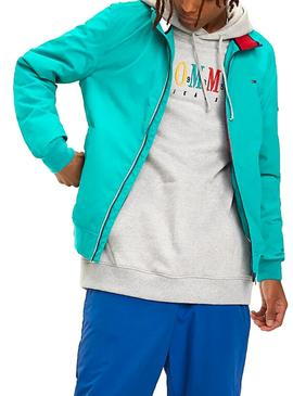Cazadora Tommy Jeans Essential Bomber Turquesa