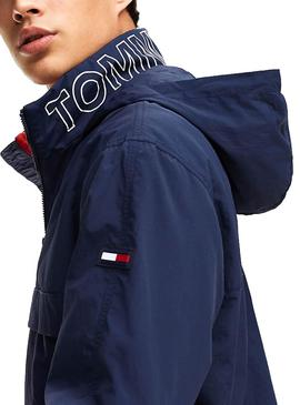Cazadora Tommy Jeans Popover Marino Hombre