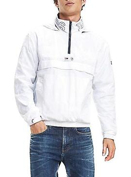 Canguro Tommy Jeans Popover Blanco Hombre