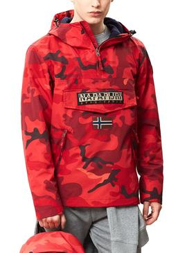 Cazadora Napapijri Rainforest Cross Militar Rojo