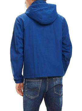 Chaqueta Tommy Jeans Essential Hooded Azul Hombre