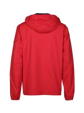 Chaqueta Tommy Jeans Essential Hooded Rojo Hombre
