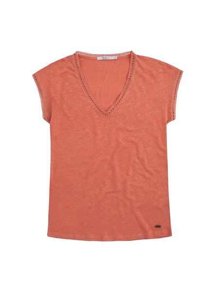 Camiseta Pepe Jeans Clementine Coral Mujer