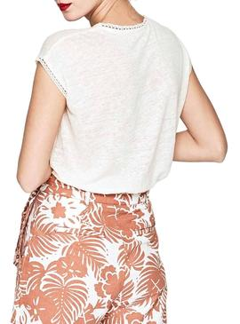 Camiseta Pepe Jeans Clementine Beige Mujer