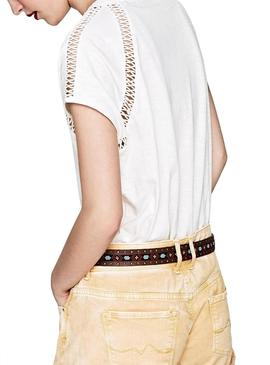 Camiseta Pepe Jeans Mailys Beige mujer