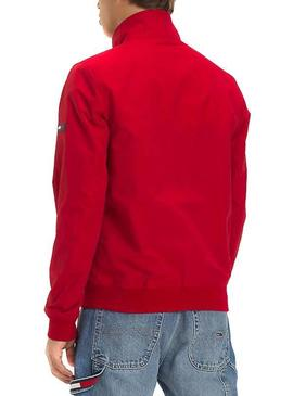 Cazadora Tommy Jeans Essential Bomber Rojo Hombre