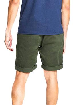 Bermuda Tommy Jeans Essential Chino Verde Hombre