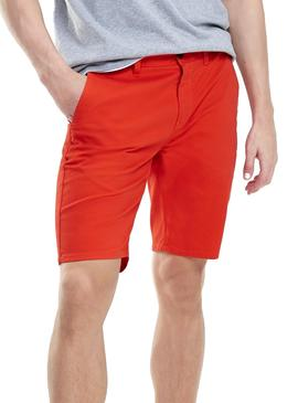 Bermuda Tommy Jeans Essential Chino Rojo Hombre