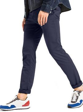 Pantalones Tommy Jeans Printed Azul
