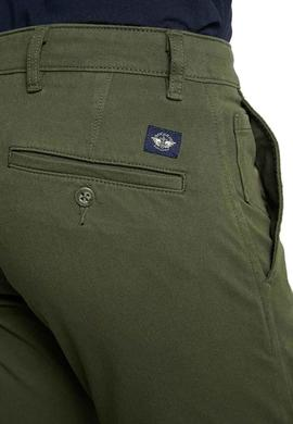 Pantalon Dockers Flex Tapered Verde Hombre