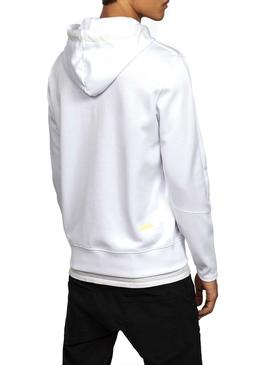 Sudadera G-Star Carnix Slim Hooded Blanca