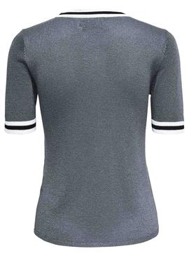 Camiseta Only Kamilla Gris Mujer