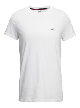Camiseta Tommy Jeans Classic Blanca Mujer