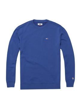 Sudadera Tommy Jeans Crew Azulon Hombre
