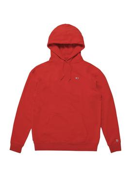 Sudadera Tommy Jeans Classic Hoodie Rojo