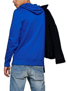 Sudadera Jack and Jones Antwon Azul Hombre