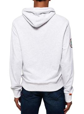 Sudadera Superdry Track And Field Lite Gris Hombre