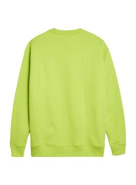 Sudadera Tommy Jeans Collegiate Verde Hombre