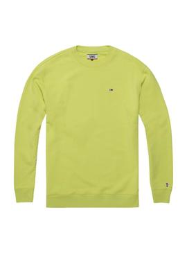 Sudadera Tommy Jeans Crew Verde Lima Hombre