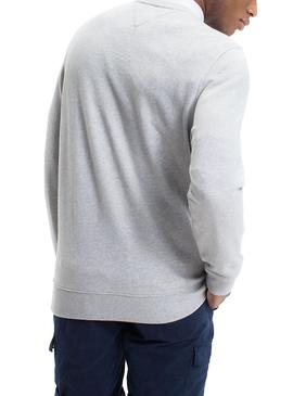 Sudadera Tommy Jeans Essential Graphic Gris