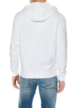 Sudadera Tommy Jeans Graphic Hoodie Blanco Hombre
