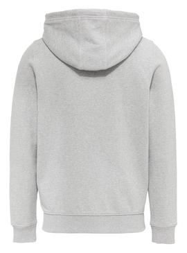Sudadera Tommy Jeans Essential Zip Gris Hombre