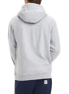 Sudadera Tommy Jeans Small Logo Gris Hombre