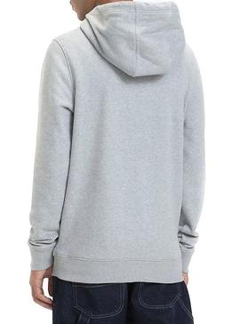 Sudadera Tommy Jeans Corp Logo Gris Hombre