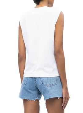Camiseta Calvin Klein Jeans Muscle Blanco Mujer